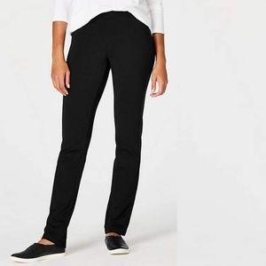 J.Jill Ponte Slim Leg Black Pants